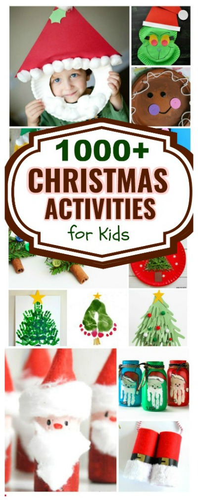 Hundreds of Christmas crafts & activities for kids- the ultimate resource! (art, science, fun traditions, play recipes, & more!) #Christmascraftsforkids #Christmasactivitiesforkids