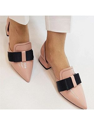 Women's elegant Women Pointed Toe Bow High Heels