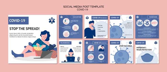 Coronavirus Social Media Post Template