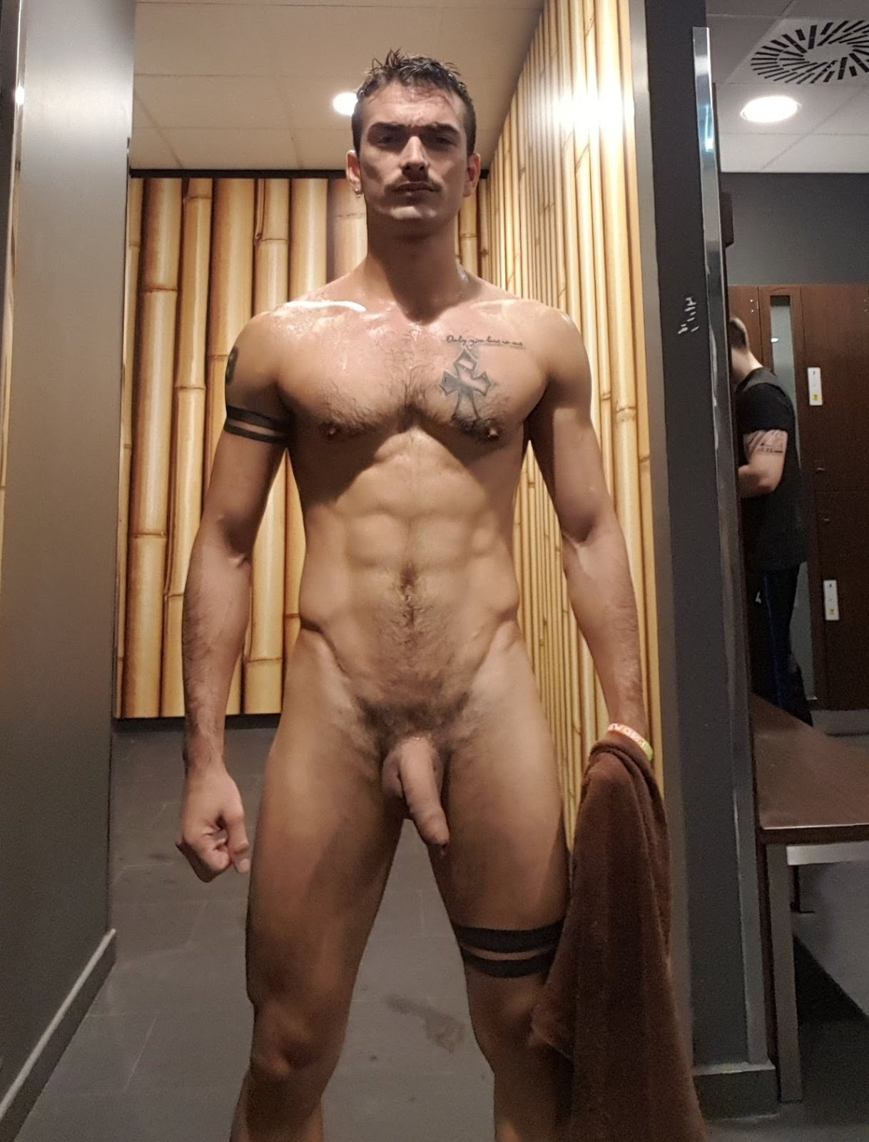 Naked Male In Locker Room