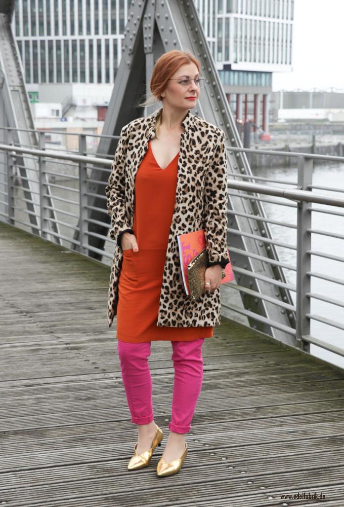 Orange und Pink, Fuchsia zusammen tragen