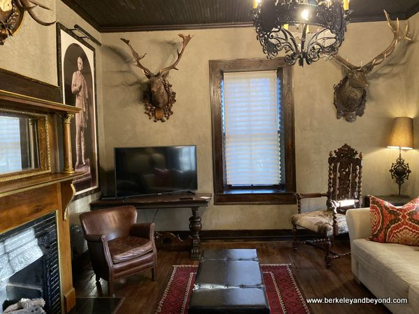 parlor at Captain Shepard House at Gage Hotel in Marathon, Texas