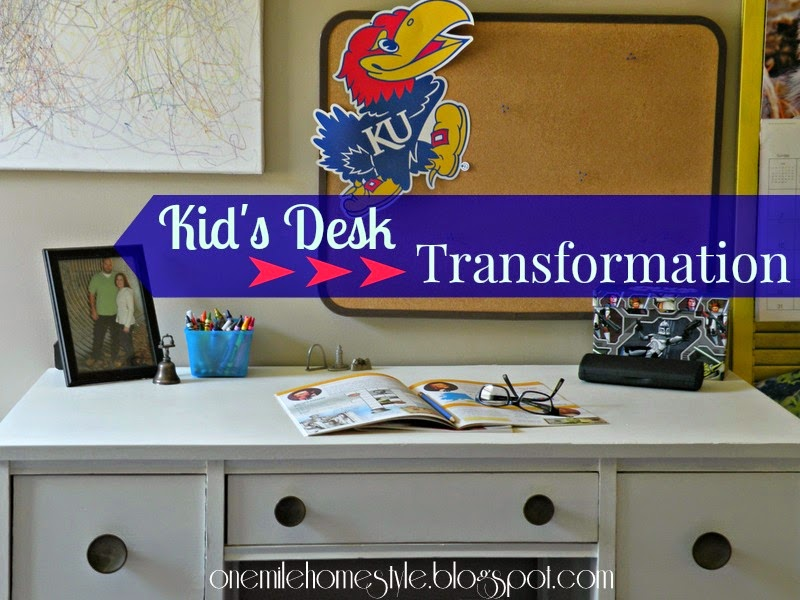 Kid's desk makeover - furniture refinishing