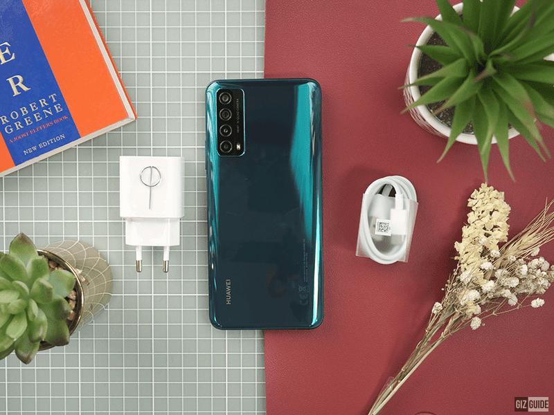 Huawei Y7a in Crush Green colorway