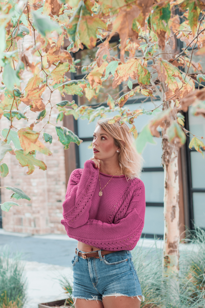 how to style cropped knitt sweater
