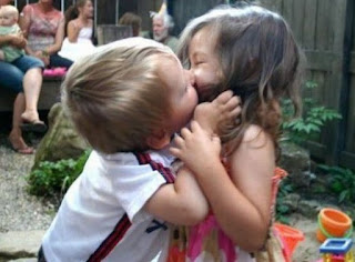 When children are afraid of kissing