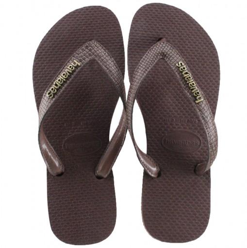 27e9bdd119 Havaianas Slim Elegance Metalic - Areia Dourado Claro