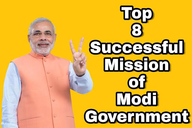 Top 8 Successful Mission of Modi Government