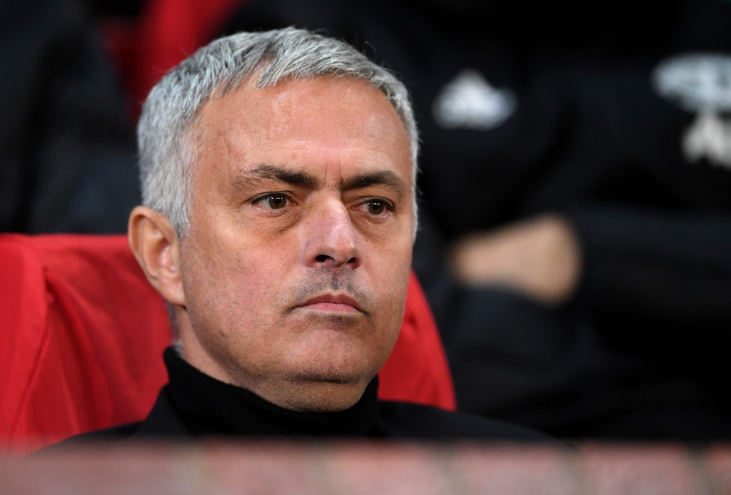 Jose Mourinho, Manager of Manchester United looks on prior to the Group H match of the UEFA Champions League between Manchester United and Juventus at Old Trafford on October 23, 2018 in Manchester, United Kingdom