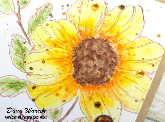 Dana Warren - Kraft Paper Stamps - The Stamp Market - Altenew Watercolors