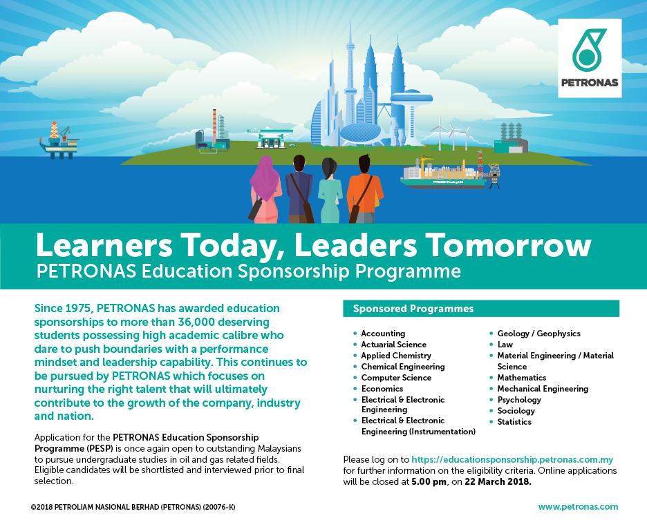 Biasiswa Petronas Education Sponsorship Programme Pesp Index My