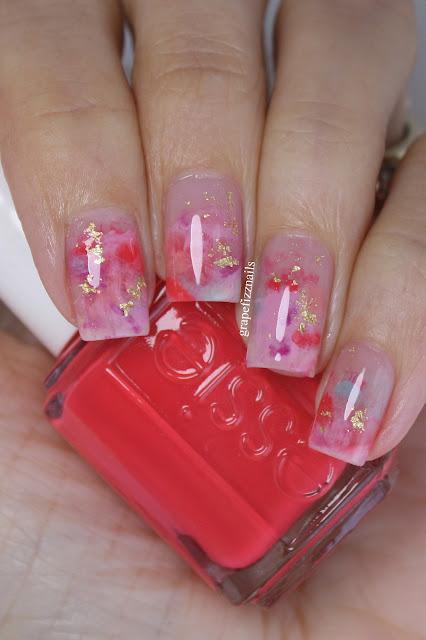 Essie Summer Smoosh Nail Art