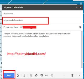 Mengirim pesan SMS lewat Gmail5