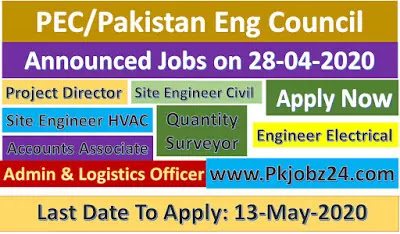 PEC Jobs|Pakistan Engineering Council jobs 28 April 2020