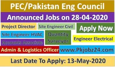 PEC Jobs|Pakistan Engineering Council jobs 28 April 2020