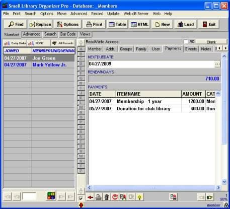 Screenshot Member Organizer Pro 3.2 Full Version