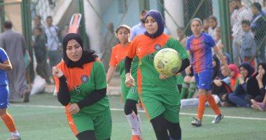 بالصور ضرب حكم في مباراة أوسيم النسائية ومركز شباب ميت عقبة