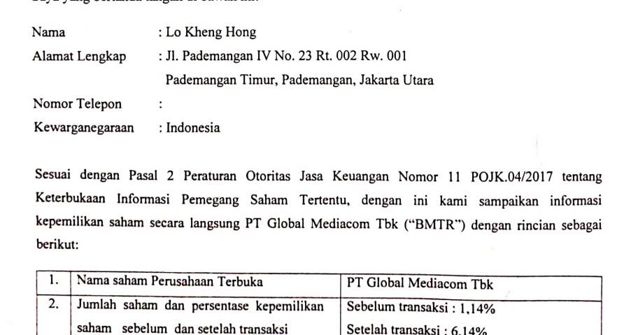 MSKY BMTR MNCN IPTV IHSG Prospek Global Mediacom (BMTR) Setelah 'Diakuisisi' Lo Kheng Hong - Indonesia Value Investing