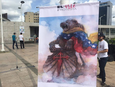 Artist Illustration in Venezuelan clash