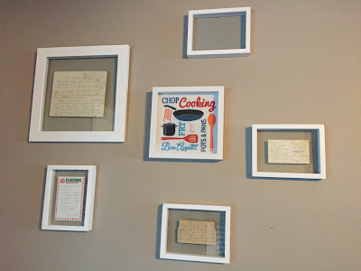 #mills new house, recipe wall, old recipes, wall art