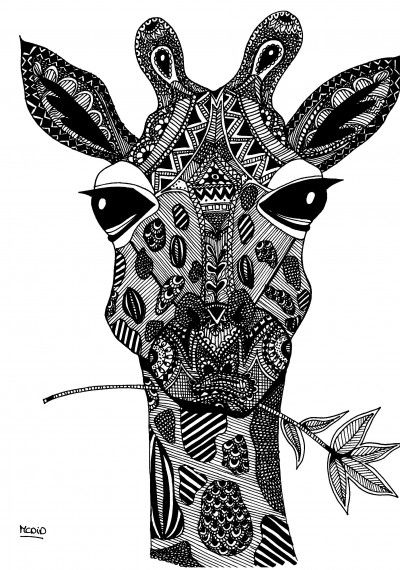 Free coloring pages round up for grown ups rachel teodoro for Giraffe mandala coloring pages