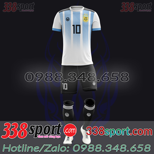 Áo Đội Tuyển Argentina Đặt May Theo Yêu Cầu - Mã AGRENTINA 02