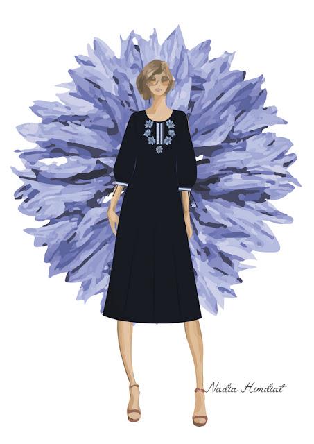 Платье женское. Модель PL-383. Автор: Nadia Himdiat