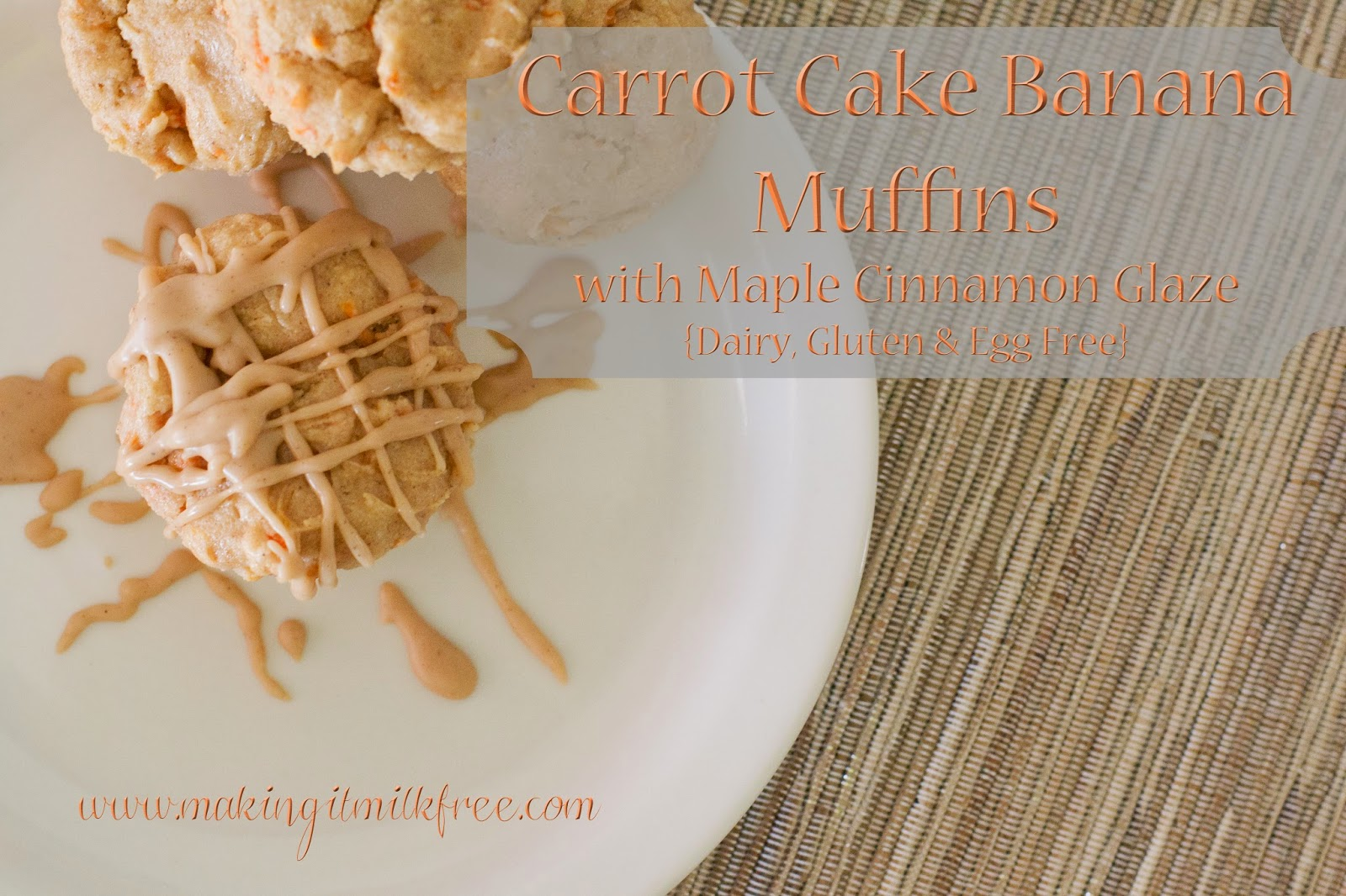 gluten-free, dairy-free, carrot cake, muffins, recipes