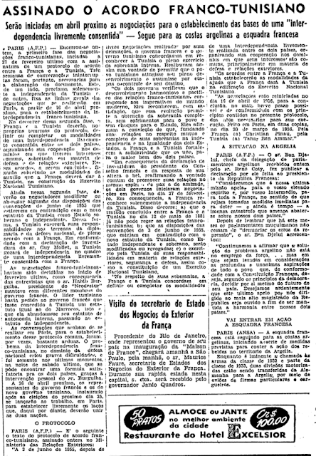 Acordo Franco-Tunisiano Folha de São Paulo