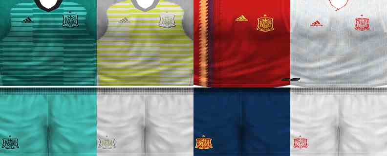 a88a4a9ce07 PES 6 Spain World Cup 2018 GDB Kits Fix