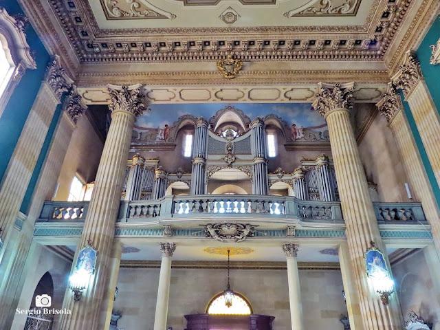 Vista do belíssimo conjunto de Órgão de tubos da Paróquia Nossa Senhora do Carmo - Basílica - Bela Vista - São Paulo