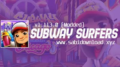 Subway Surfers v1.113.0 Mod Apk Terbaru (Mod Gold, Key)