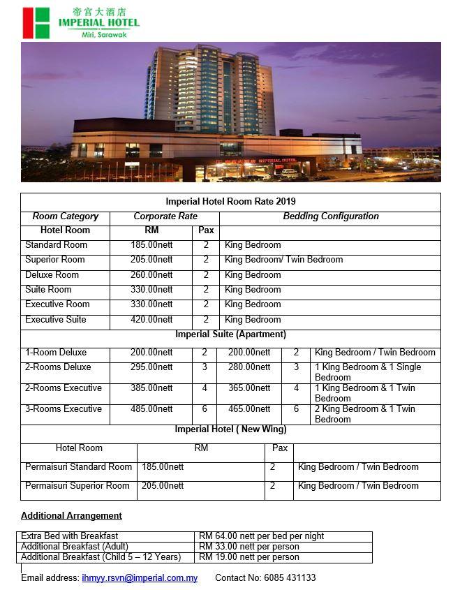 BRUNEI HIVE: Miri Hotel Corporate Rates