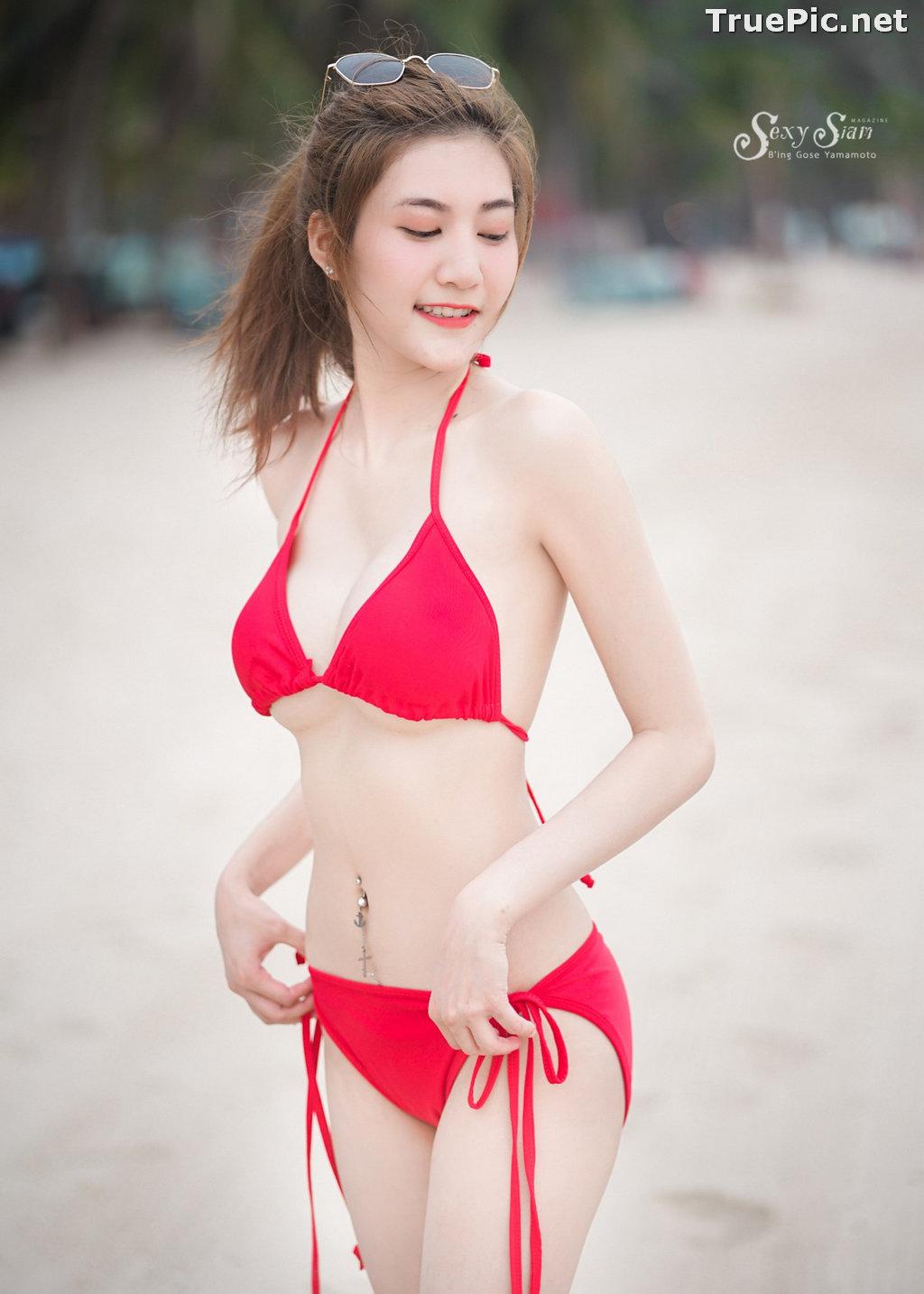 Image Thailand Model - Nitchakan Thongruangkitti - Red Fern Bikini - TruePic.net - Picture-6