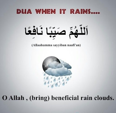 Dua when it is raining