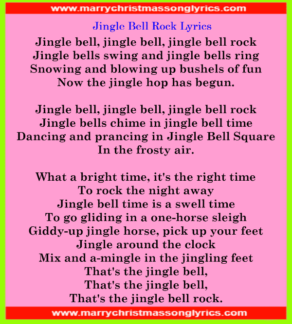 Jingle Bell Rock Lyrics Image