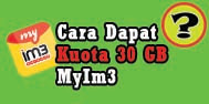 Mendapatkan kuota gratis dari MyIM3 sebesar 50 GB
