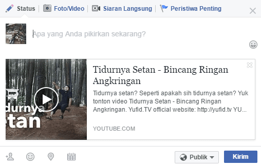 Cara Share Video Youtube Ke Facebook Agar Tampil Full Frame