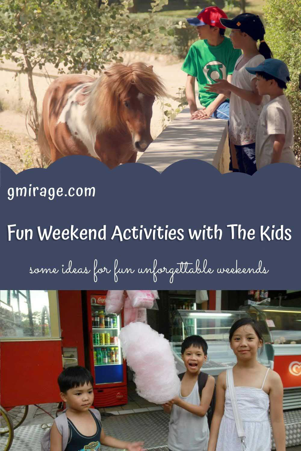 weekend activities, kids horse, cotton candy