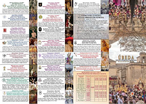 Semana Santa de Úbeda 2020 - Plano de Horarios e Itinerarios