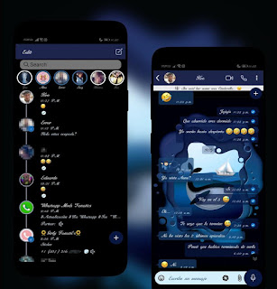 Blue Whales Theme For YOWhatsApp & RA WhatsApp By Ethel