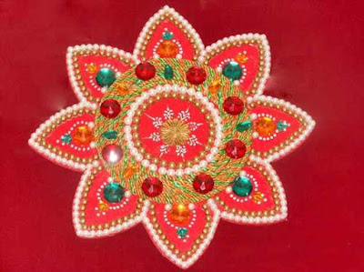 Flower Rangoli Designs image for Happy New Year