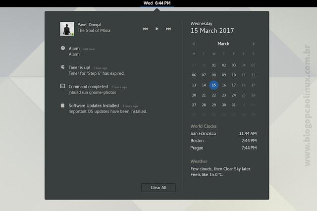 """Notificações no GNOME 3.24 """"Portland"""""""