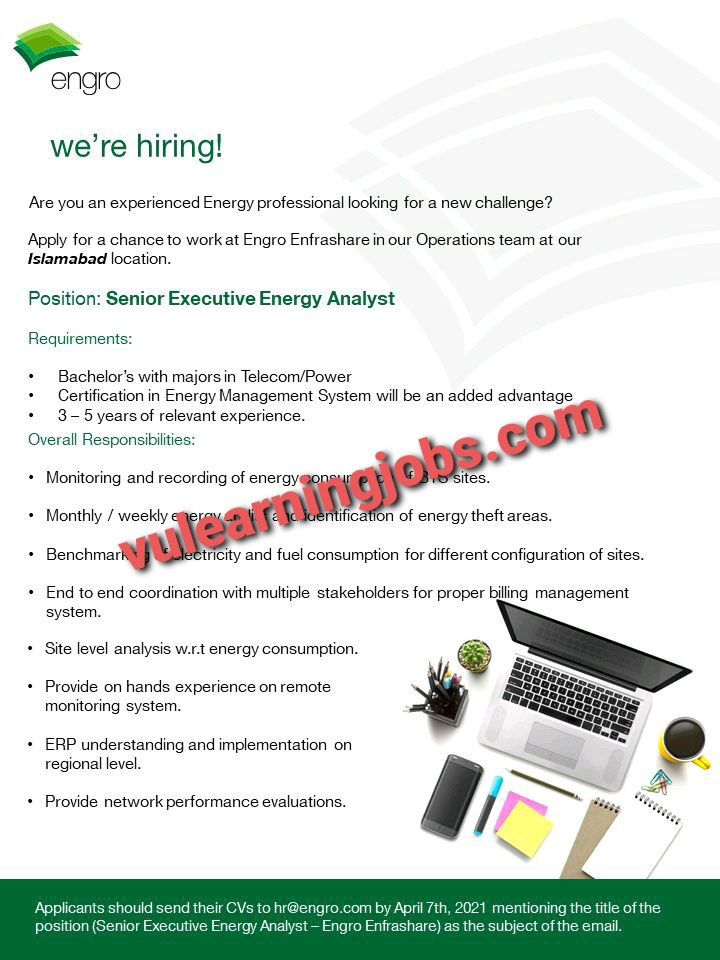 Engro Corp April Jobs In Pakistan 2021 Latest   Apply Now