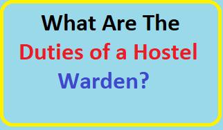 hostel warden job