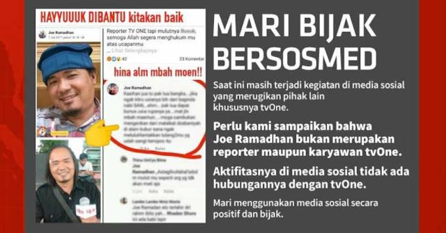 Pria Disebut Wartawannya Hina Mbah Moen, tvOne Angkat Bicara