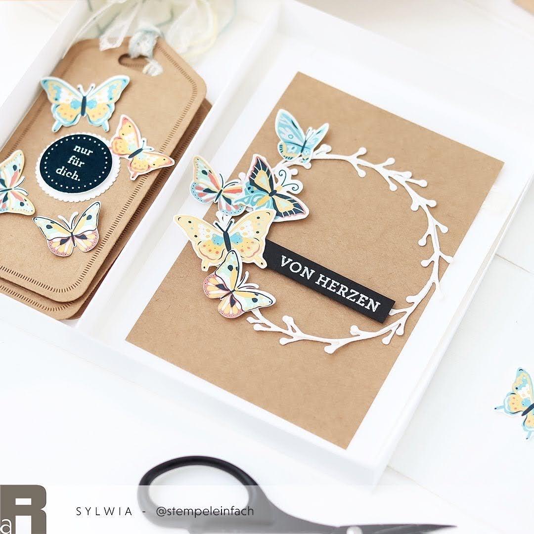 Geschenkset mit Schmetterlingen