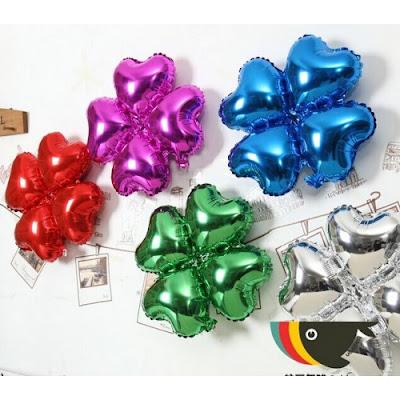 Balon Foil Empat Hati / Foil 4 Hati