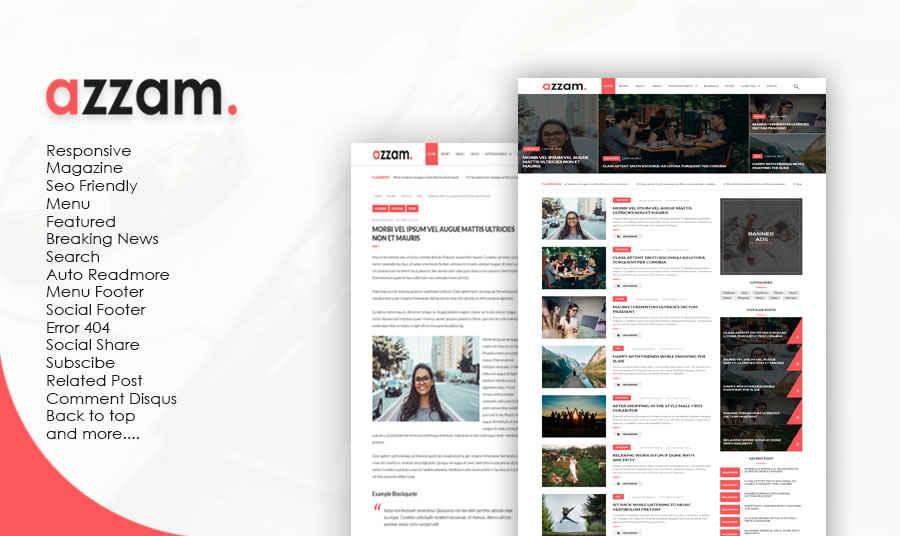 Azzam Magazine Responsive Blogger Template