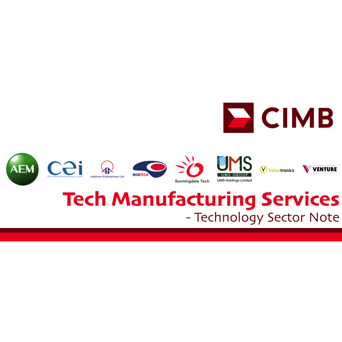 Tech Manufacturing Services - CIMB Research 2018-01-09: Unearthing The Laggards